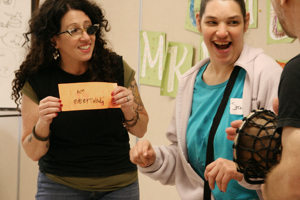 Upstream Arts Teaching Artist and Participants