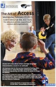 "Upstream Arts ""The Art of Access"" in Milwaukee - flyer"