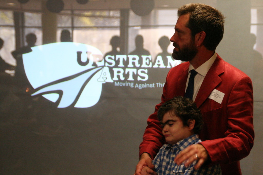 Matt and Caleb at Upstream Arts' 1st Annual Meeting and Fundraiser in 2014
