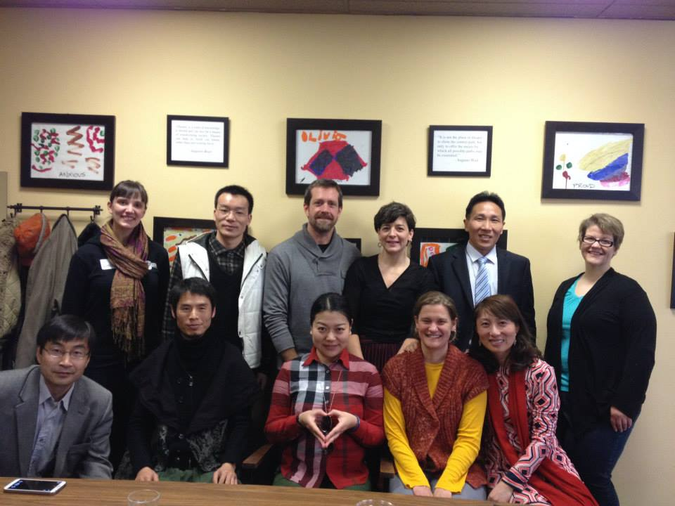 Upstream Arts Staff with the visiting delegation from China