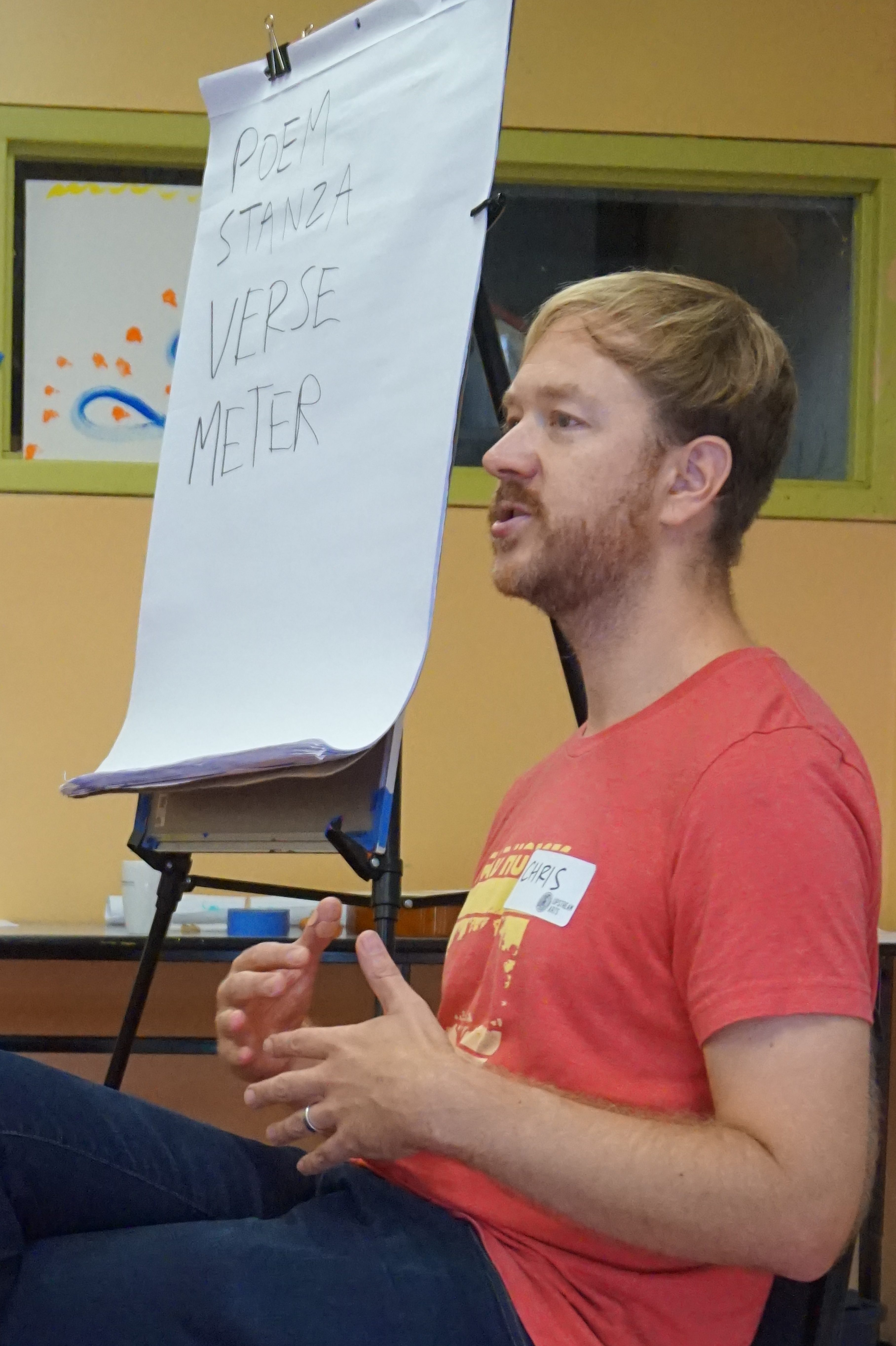 Chris Martin, poet, describes the elements of a poem.