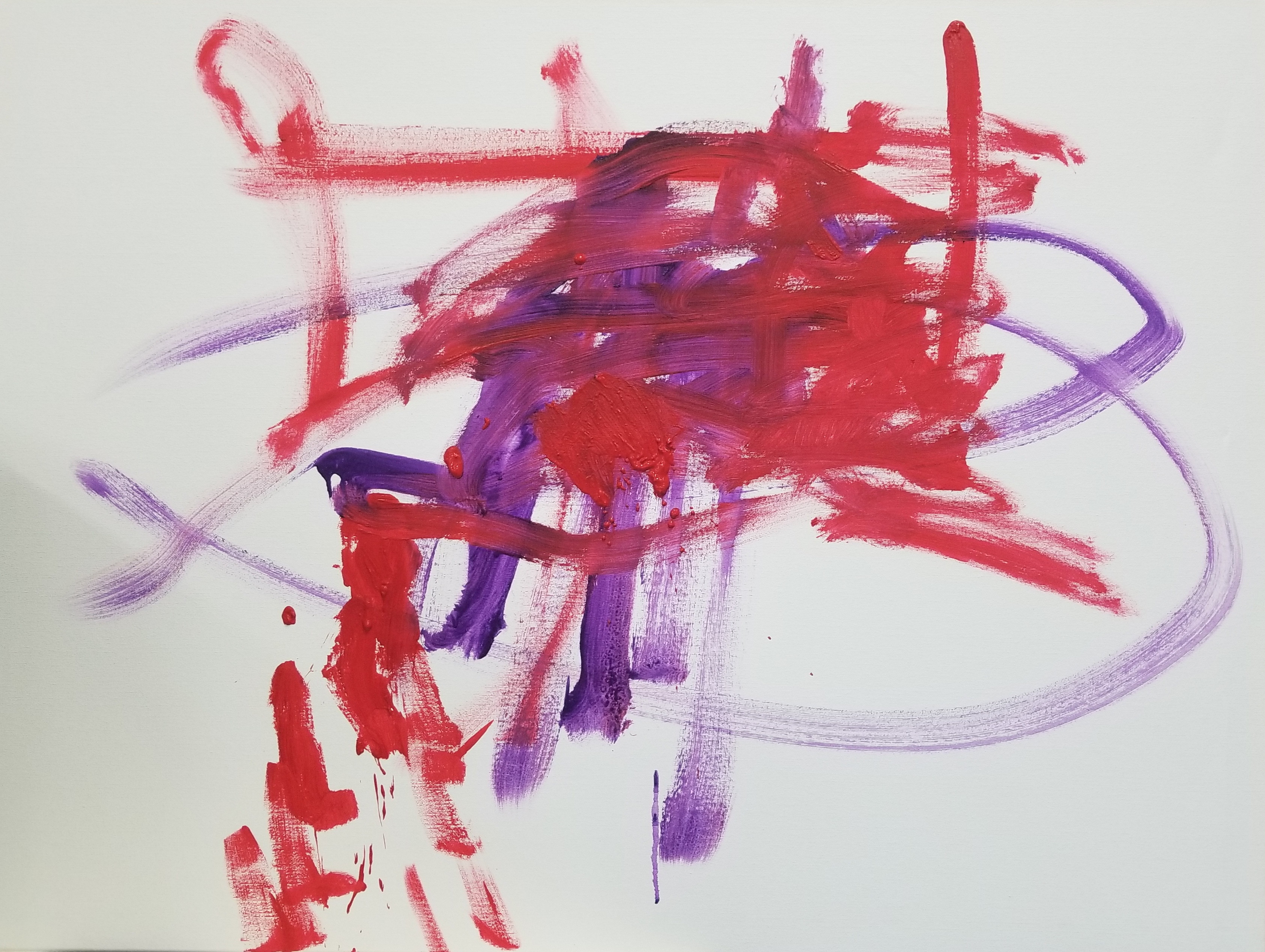 Abstract red and purple painting