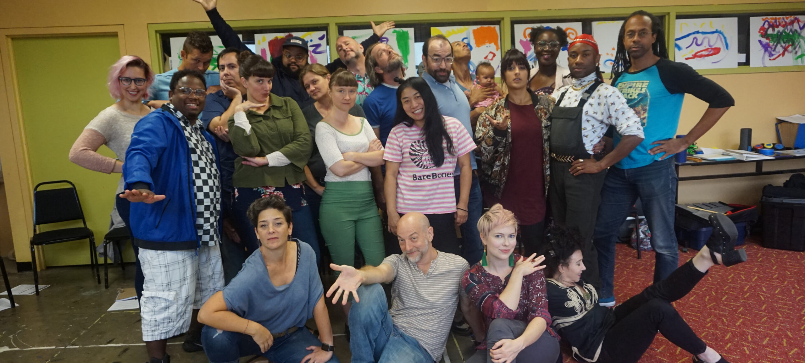 Upstream Arts Teaching Artists and Staff at Fall Training, 2017